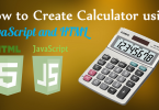 calculator using javascript and html