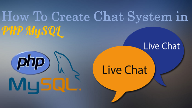 How to create chat system in PHP using Ajax