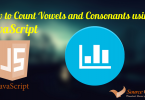 Count vowels and consonants using JavaScript