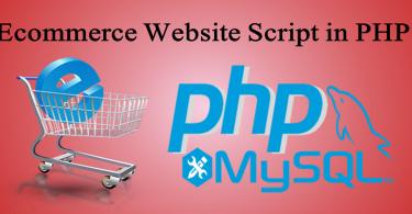 Ecommerce Website Script in PHP