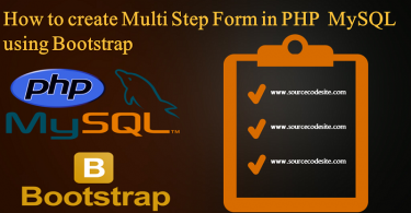 Multi Step Form in PHP MySQL