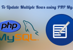 update multiple rows using PHP MySQL