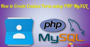contact form using php mysql