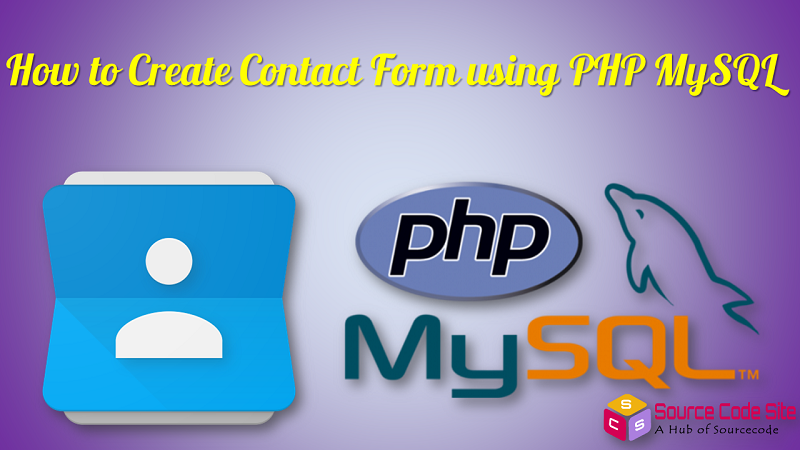 contact form using php mysql