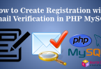 registration with email verification in PHP MySQL