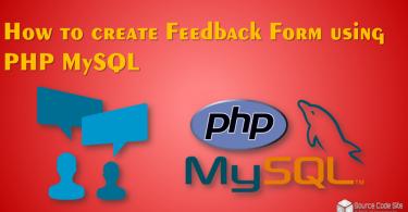 feedback form using PHP MySQL
