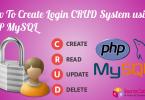 Login CRUD System using PHP MySQL