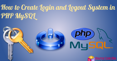Login and Logout System in PHP MySQL