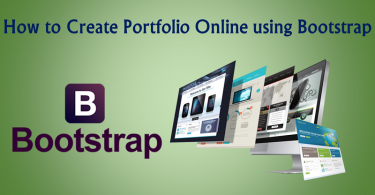 portfolio online using bootstrap