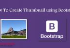 Thumbnail using Bootstrap