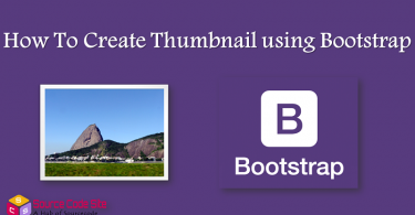 Thumbnail using Bootstrap