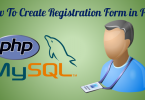 user registration in php