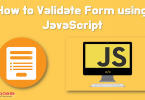 validate form using javascript