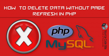 delete data without page refresh in php using ajax