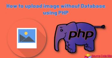 upload image without database
