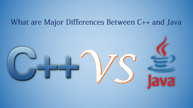 c++ and java