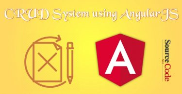 CRUD System using AngularJS