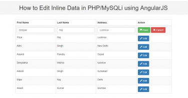 How to Edit Inline Data in PHP/MySQLi using AngularJS
