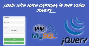 Login with Math CAPTCHA in PHP using jQuery