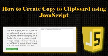 How to Create Copy to Clipboard using JavaScript
