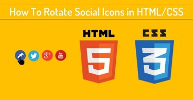 How To Rotate Social Icons in HTML/CSS