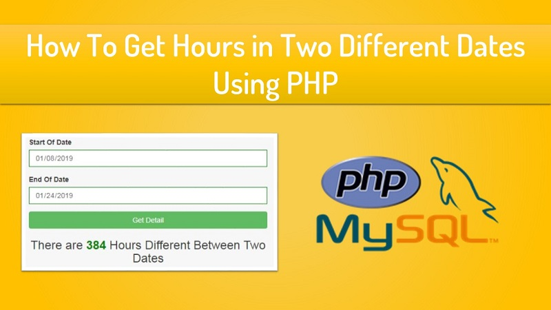 How To Get Hours in Two Different Dates using PHP
