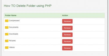 How TO Delete Folder using PHP
